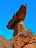Morning Sentry. Rock formation at the Balancing Rocks near Culver, OR Stock Photography