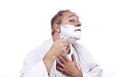 Morning shave Royalty Free Stock Photography