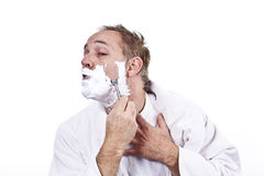 Morning shave Stock Images