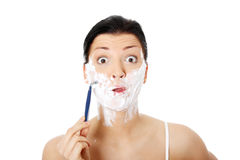 Morning shave Royalty Free Stock Photo