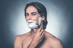Morning shave. Royalty Free Stock Photography