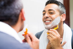 Morning shaving Royalty Free Stock Photography