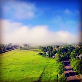 Morning shot of fog. This was shot from my drone early in the morning after a long nights storm Royalty Free Stock Photography