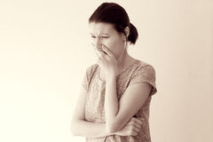Morning sickness nausea Royalty Free Stock Images