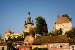 Morning in Sighisoara Royalty Free Stock Images