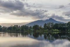 Morning at situgede lake bogor. Beautiful View of Situgede Lake in the morning at Bogor, West Java Indonesia Royalty Free Stock Image