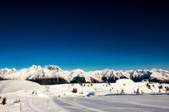 Morning on the ski slope Stock Image
