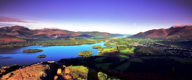 Morning skies over Keswick. Sunrise skies over Keswick and Skiddaw Stock Photo