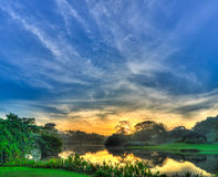 Morning Skies over Pond Royalty Free Stock Photography