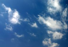Morning sky. Clouds in sky stock photography