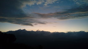 The morning sky. The beautiful colors of morning sky Stock Photo