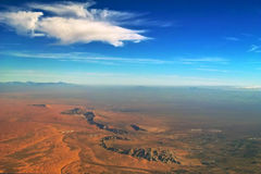 Morning sky of beautiful desert, mountains & oasis Royalty Free Stock Images