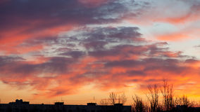 Morning sky in the city Royalty Free Stock Image