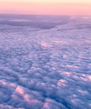Morning sky and clouds. Clouds and sky as seen through window at sunrise Stock Images