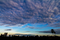 Morning sky clouds Royalty Free Stock Photo
