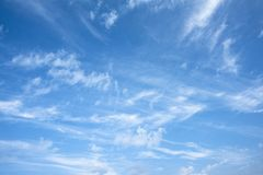 Morning sky with clouds. Winter morning blue sky with clouds and texture royalty free stock photography