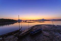 Ban Sam Chong Tai Takua Thung District, Thailand. This morning sky in Fishing village Royalty Free Stock Image