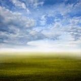 Morning sky at green field, Defocused Royalty Free Stock Photos