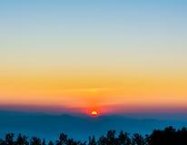 Morning sky. Image of morning sky at Chiang Mai,Doi Angkhang,Thailand Royalty Free Stock Photography