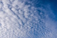 Morning Sky With A lot Of White Clouds Stock Images