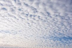 Morning Sky With A lot Of White Clouds Royalty Free Stock Photos