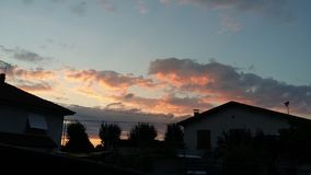 Morning sky. From my house Stock Images