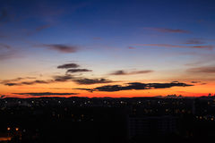 Morning sky over the city. Of in thailand Stock Photo
