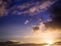 Morning sky overlay Royalty Free Stock Images