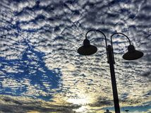 Morning Sky. At The Airport Royalty Free Stock Photography