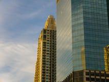 Morning Sky Reflection on Windows. Nontri Junction, Bangkok Royalty Free Stock Images