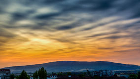 Morning sky. Summer morning in my small town - provides interesting colors and clouds each day stock photography