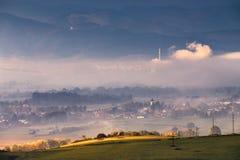 Morning in Slovakia. Liptov, Slovakia Stock Photos