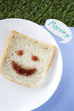 Morning smiley bread Stock Photography