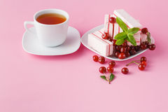 Morning snack with cherry fruit candy Stock Image