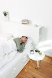 Morning snooze. Image of young man asleep Stock Photography