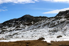 Morning snow in mountain. This is Gangtok at Sikkim in India Stock Photography
