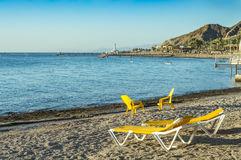 Morning at southern beach of Eilat Stock Photography