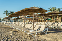 Morning at southern beach of Eilat Royalty Free Stock Image
