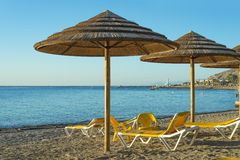 Morning at southern beach of Eilat Stock Photo
