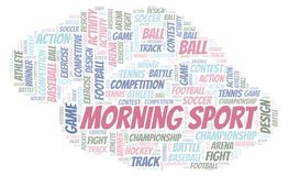 Morning Sport word cloud. Wordcloud made with text only vector illustration