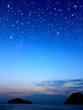 The morning star. Morning star in dark blue sky royalty free stock image