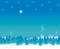 Morning star. Christmas or New Year background with bright early morning star Royalty Free Stock Photos