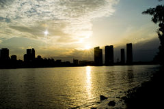 The Morning Star and Downtown Miami Stock Photo