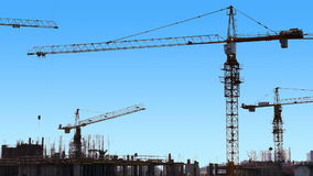 Morning Start at Construction Site stock video footage