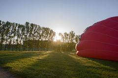 Morning start of a Hot air balloons Stock Images