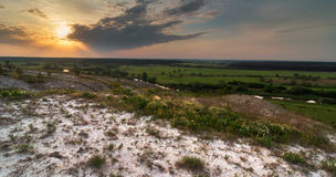 Morning in steppe Royalty Free Stock Image