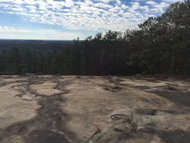 Morning at stone mountain Stock Photos