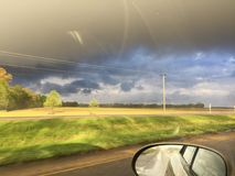 Morning storms brewing. On the drive to school Royalty Free Stock Photo