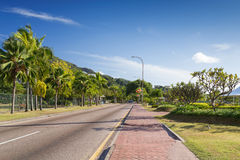 Morning street of capital of Seychelles, Victoria, Mahe island Stock Images