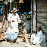Morning on a street  in Old Delhi, India Royalty Free Stock Photo
